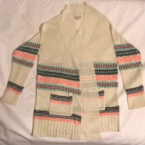 Colorful, light-weight cardigan